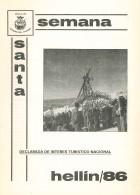 Programa de Actos de Semana Santa de Hellín - 1986