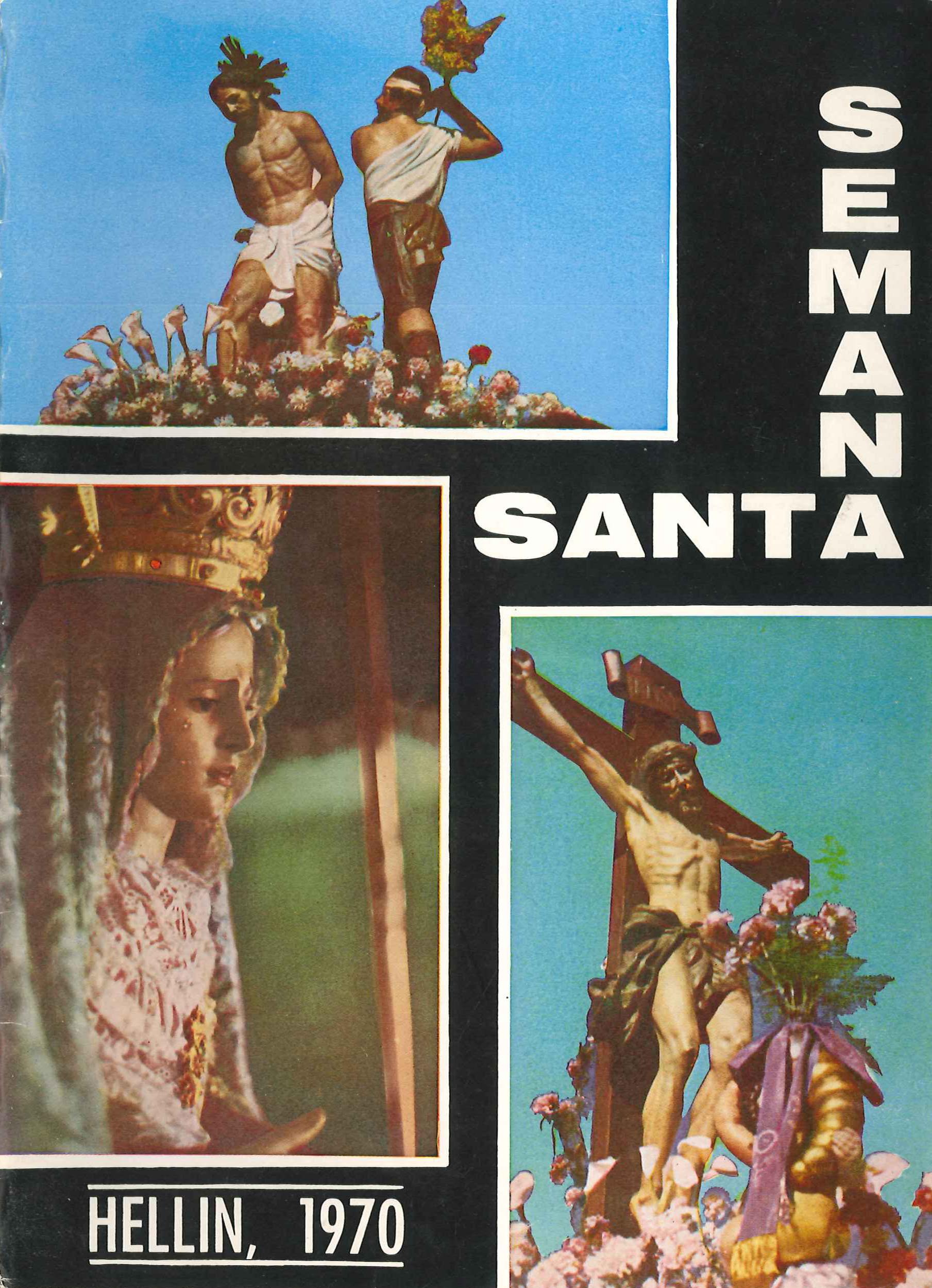 Programa de Actos de Semana Santa de Hellín - 1970
