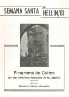 Programa de Actos de Semana Santa de Hellín - 1981