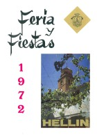 Programa de la Feria de Hellín - 1972