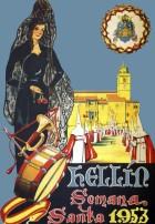 Carteles anunciadores de la Semana Santa de Hellín