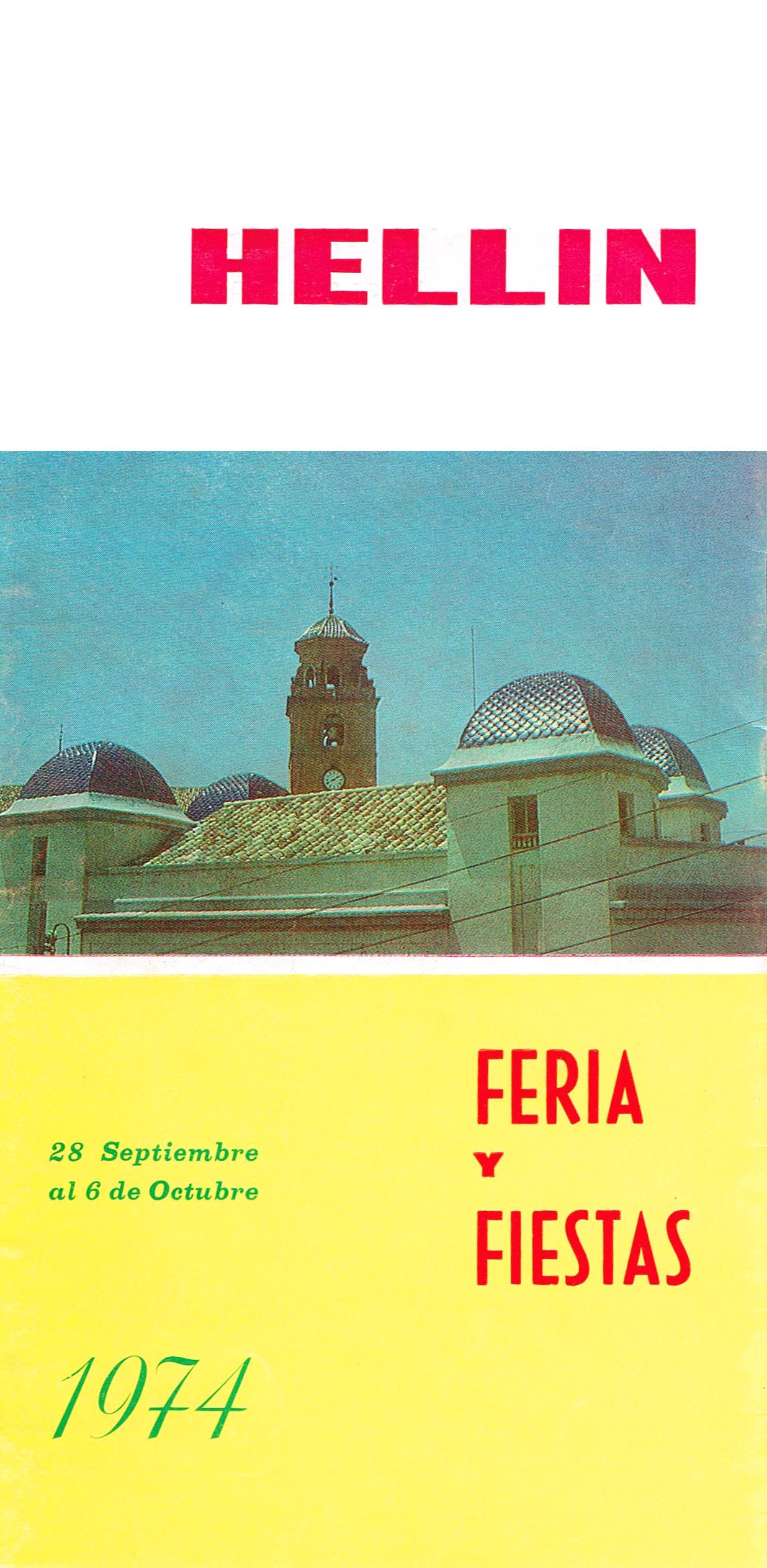 Programa de la Feria de Hellín - 1974
