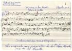 Partitura original de la adaptación a banda del Himno a San Rafael de Hellín por Pedro Gil Lerín