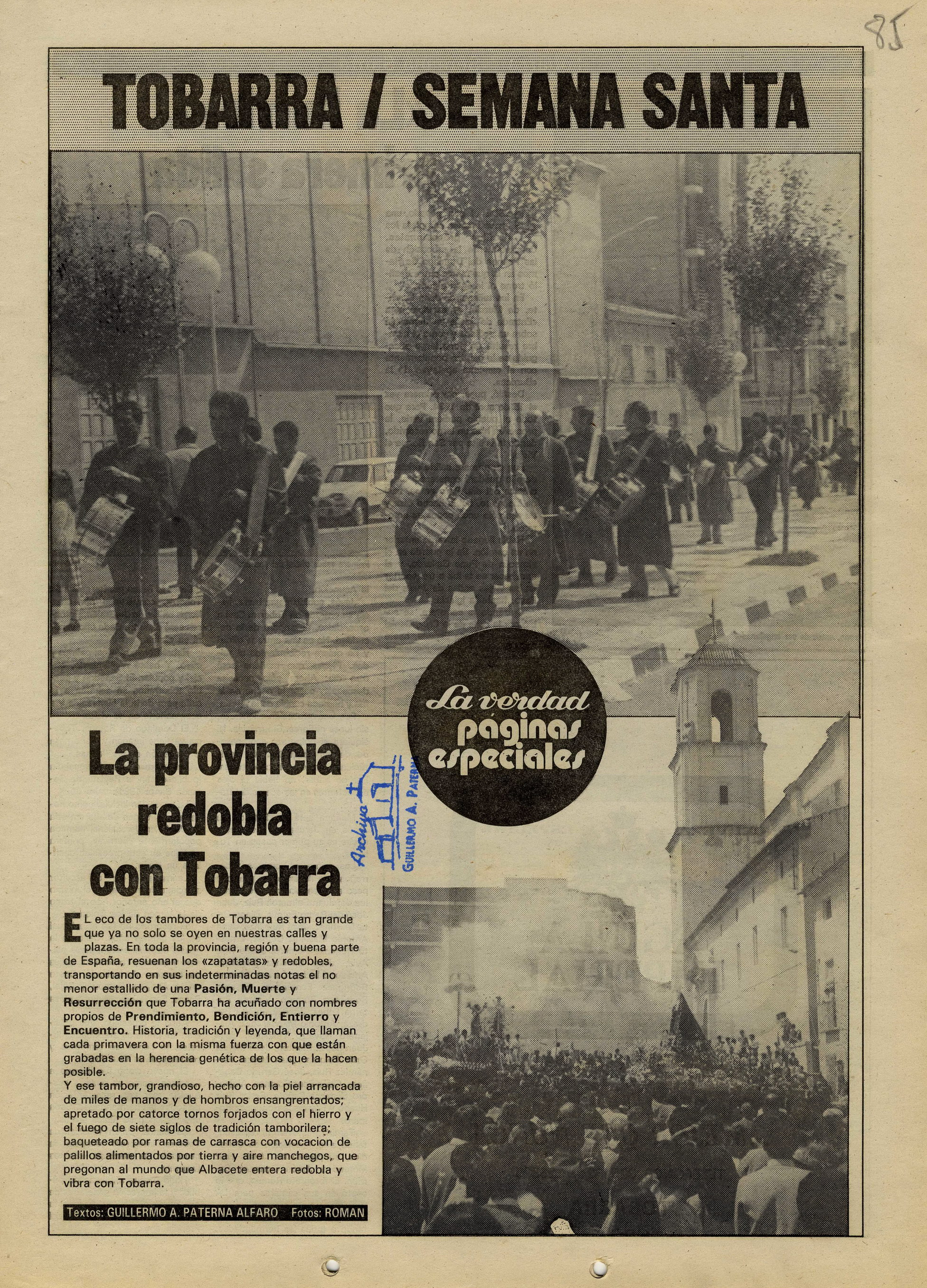 Semana Santa de Tobarra - 1985