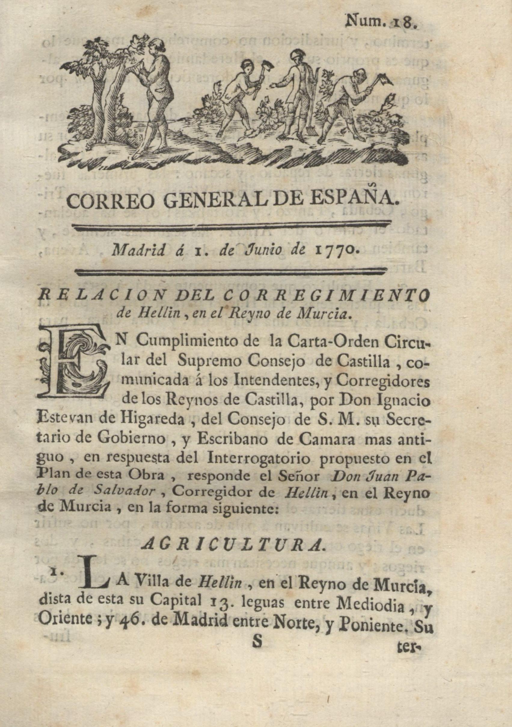 Relación del Corregimiento de Hellín, en el Reyno de Murcia