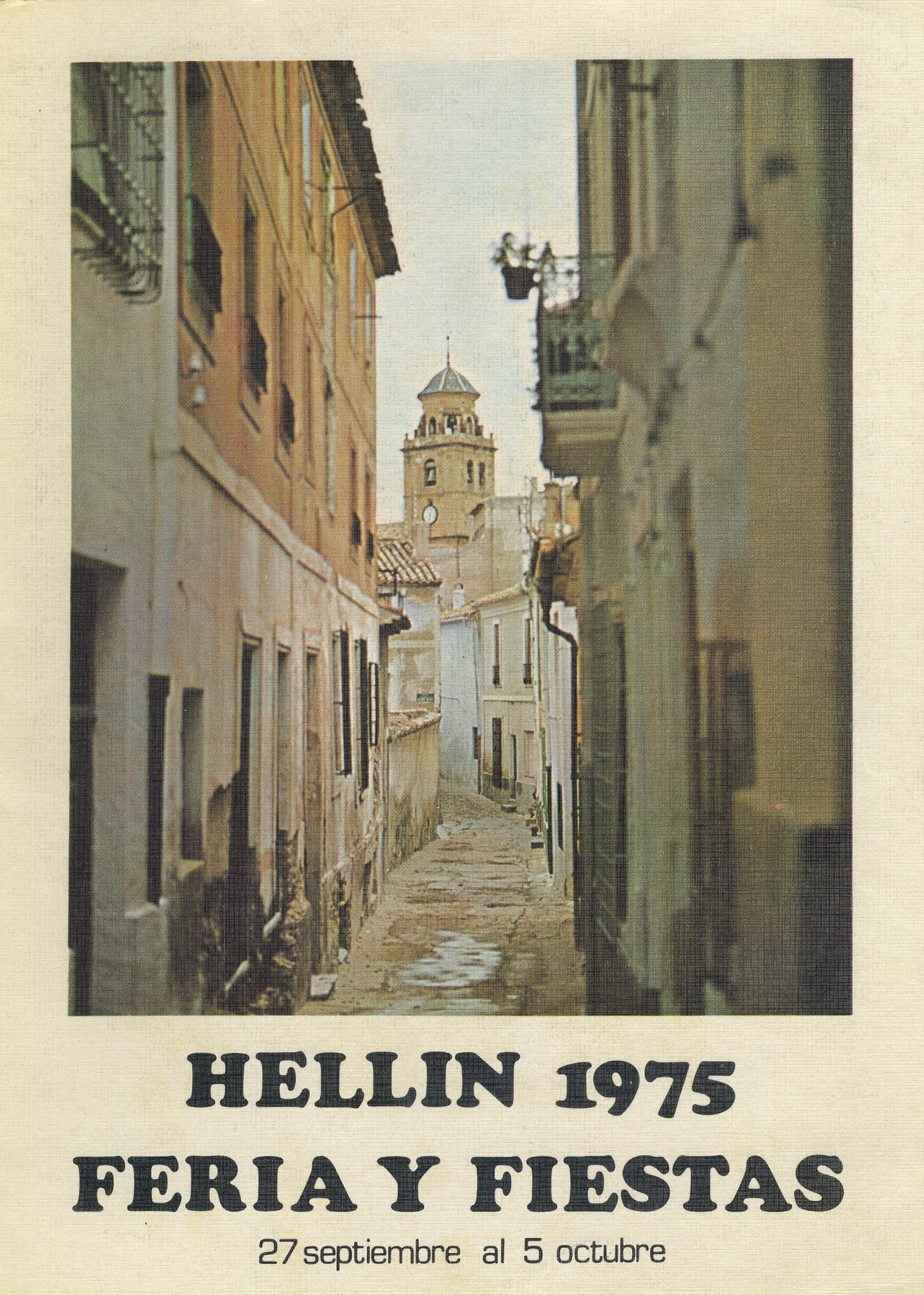 Programa de la Feria de Hellín - 1975
