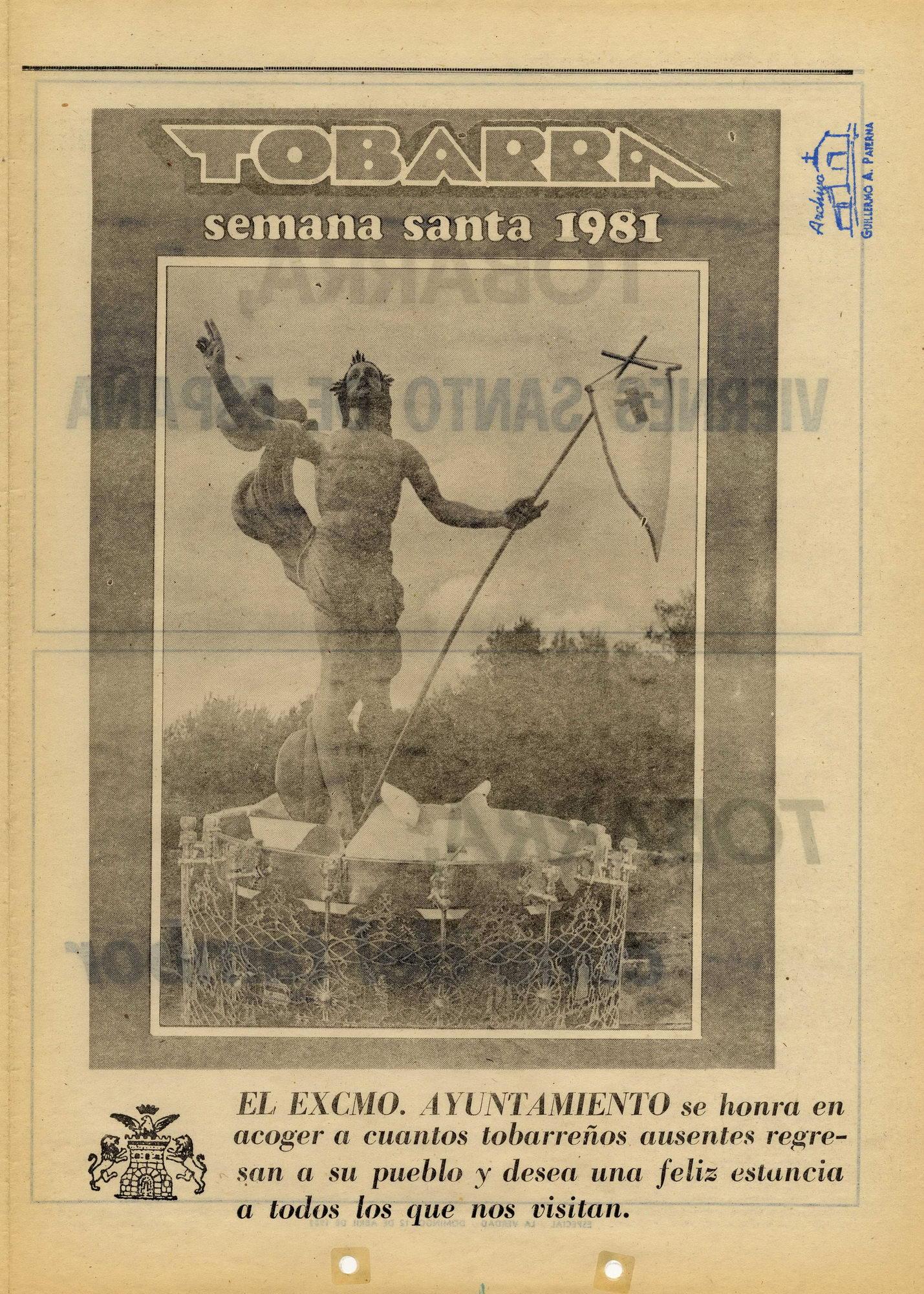Semana Santa de Tobarra - 1981