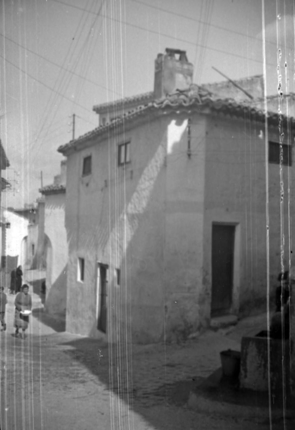 Calle Barrionuevo con calle Ánimas y caño de la calle Ánimas