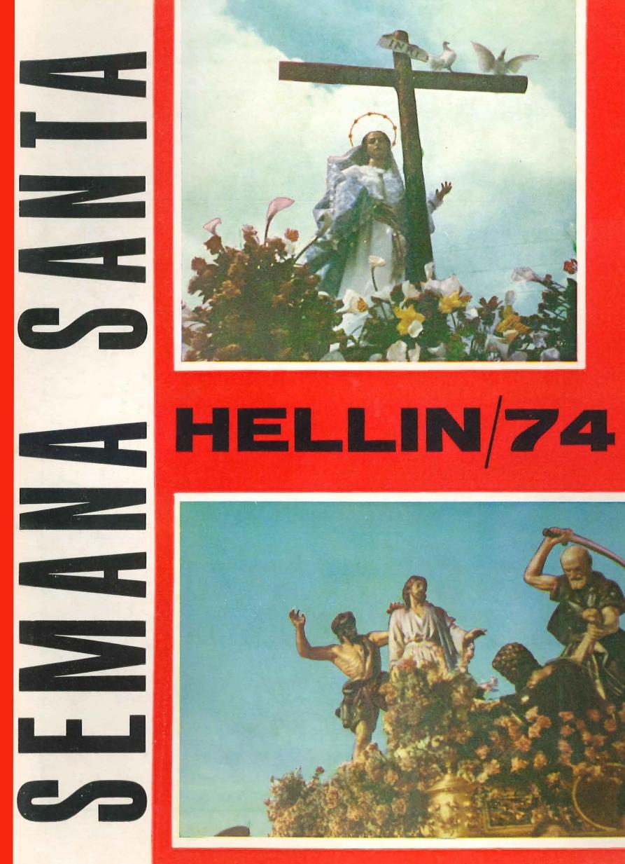 Programa de Actos de Semana Santa de Hellín - 1974