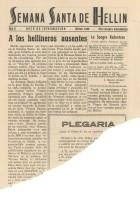 Hoja de Información de la Federación de Hermandades - 1949 - n1